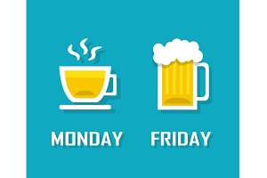 drinks in different day of the week