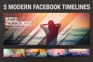 5 Modern Facebook Timeline Covers