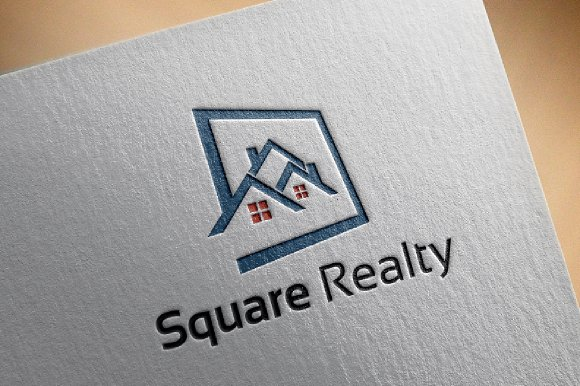 Square Housing Realty Logo Template