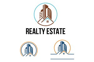 3 - Real Estate Modern Building Logo