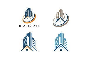 4 - House Building Real Estate Logo