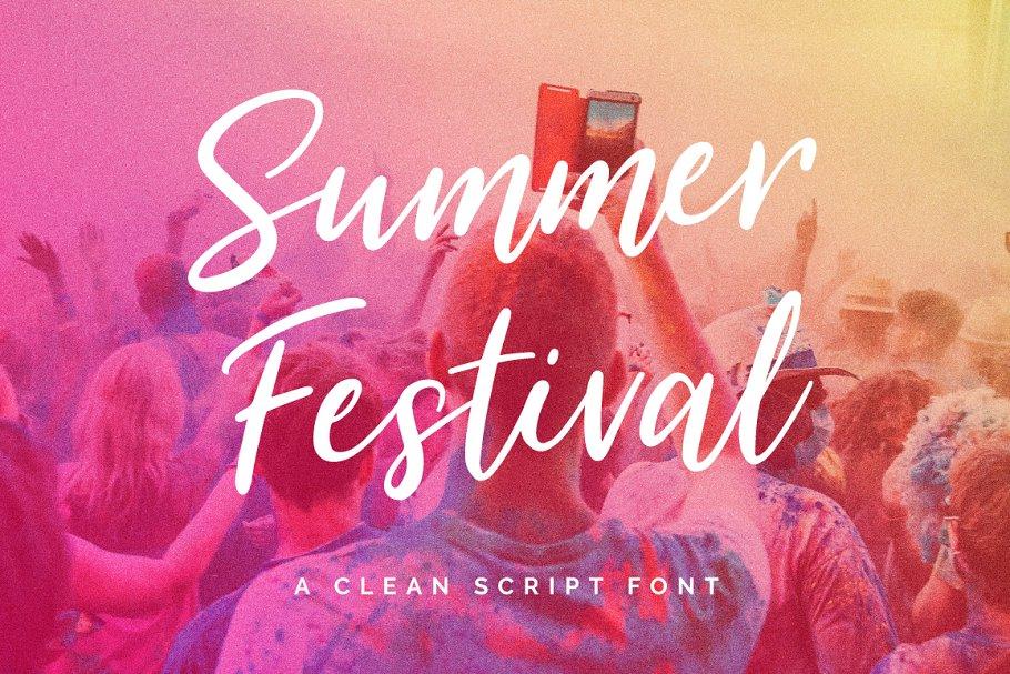 7a9bcb24acd2 Summer Festival Typeface ~ Script Fonts ~ Creative Market