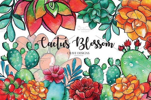 Cactus Blossom Clip Art