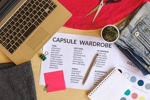 Capsule wardrobe concept