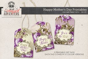 Mother's Day Gift Tags Purple