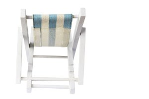 Beach chair on white background