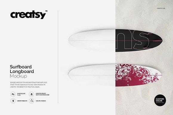 Surfboard Longboard Mockup Set
