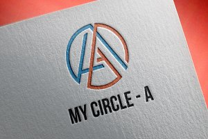 Circle A Letter Abstract Logo Symbol