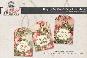 Mother's Day Gift Tags Red