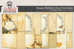 Mother's Day Journal Cards Yellow
