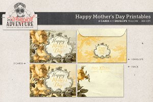 Mother's Day Card+Envelope Yellow