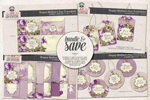Mother's Day Printables Purple