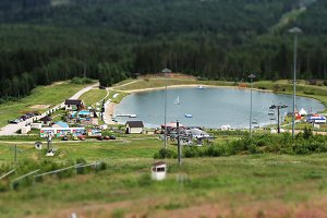 Ski resort in summer