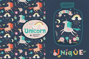 Unicorn. Characters and Patterns