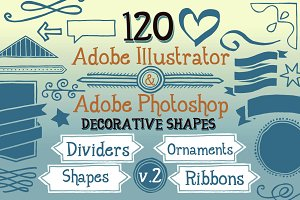 120 Handwritten Decorative Shapes 02