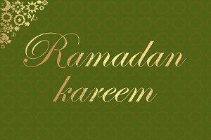 Ramadan Kareem green gold poster