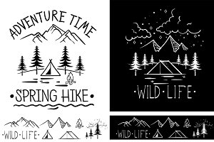 Trendy Adventure Vintage Labels