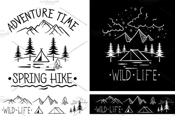 Trendy Adventure Vintage Labels