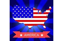 Set america flag on the American