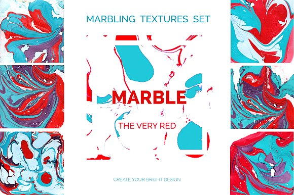 Marble Textures-the Very Red