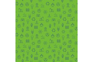 Energy seamless pattern. Background with icons.