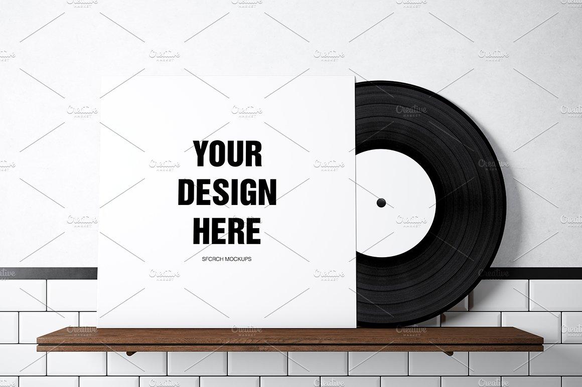 Vinyl Record Mockup 01 Product Mockups Creative Market