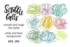 Scribble ball set