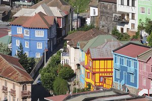 Valparaiso Colored Houses
