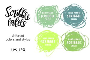 Scribble label set