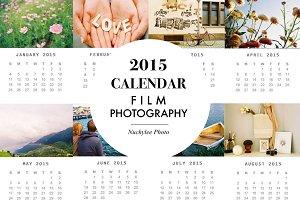 2015 Calendar Film Photography Set