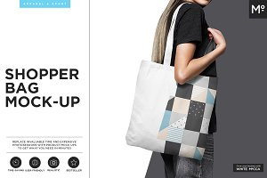 Canvas Shopper Bag Mock-up