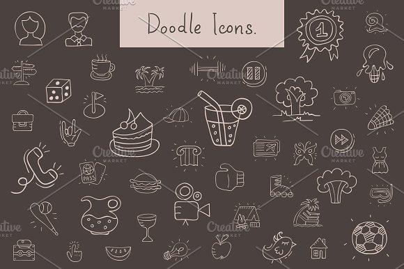 Doodle icons. Big set. - Icons