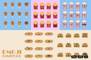 60 Emoji Fastfood Icon