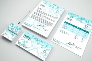 Medlab — Branding Identity Mock-Up