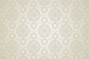 Chinese pattern, silver background