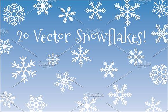 20 Vector Snowflakes