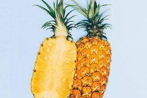 Minimal art fruit pineapple