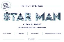 Star Man Typeface + Vector Letters