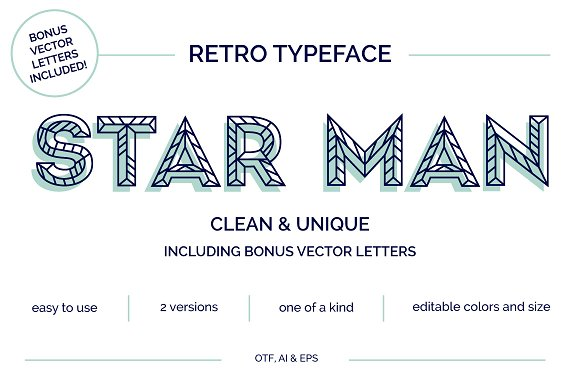 Star Man Typeface Vector Letters