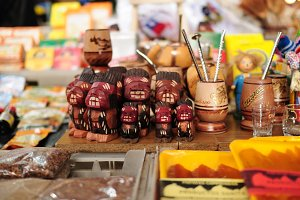 Chilean souvenirs in a Market