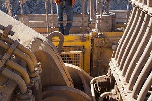 Excavator Inspection. Mining