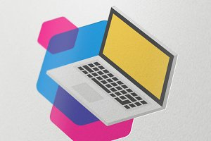 Isometric Laptop illustration