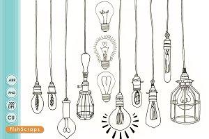 Edison Light Bulb Clip Art PNG