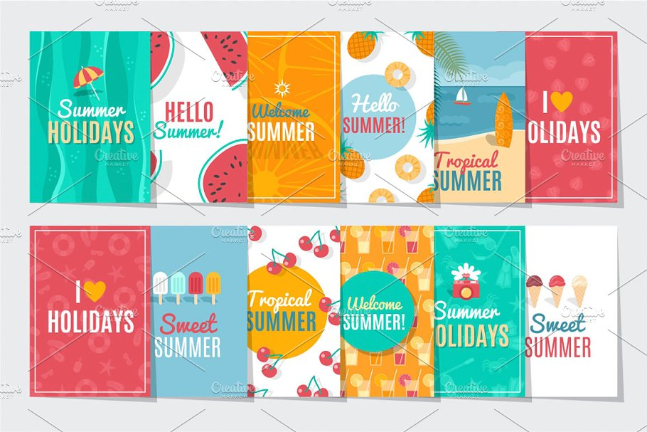 Summer Season Cards in Card Templates - product preview 8