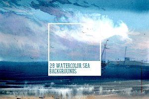 Watercolor Sea Backgrounds