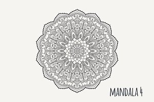 Mandala PDF PNG EPS10 №4