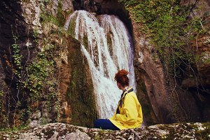 Watching a waterfall