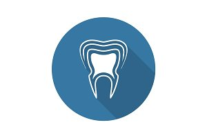Oral Health Icon. Flat Design.
