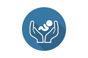 Child Care Icon. Flat Design.