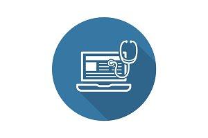 Medical Blog Icon. Flat Design.